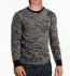 Canvas Burnout Long Sleeve Thermal T-Shirt schwarz-grau