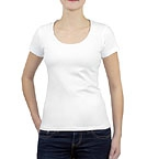 nakedshirt Brenda - T-Shirt aus Biobaumwolle - weiss