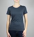 nakedshirt Judy - T-Shirt aus Baumwolle - dark denim