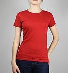 nakedshirt Judy - T-Shirt aus Baumwolle - chilli rot