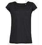 Stanley & Stella Stella Parades - T-Shirt mit U-Boot Ausschnitt Tencel - schwarz