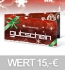 grundstoff 15,- EUR Geschenkgutschein - Weihnachtsdesign