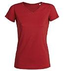 Stanley & Stella Stella Shows - V-Neck T-Shirt aus Bio-Baumwolle - rot
