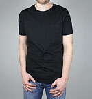 Continental Clothing Slim Fit T-Shirt with Pocket - schwarz