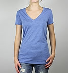Bella Triblend Deep V-Neck T-Shirt blue heather
