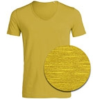 Stanley & Stella Stanley Hopes Slub - Deep V-Neck T-Shirt - mustard