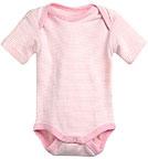 Living Crafts - Kids Baby Kurzam-Body aus Bio-Baumwolle - rosa-natur