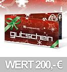 grundstoff 200,- EUR Geschenkgutschein - Weihnachtsdesign