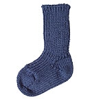 Living Crafts - Kids Baby Socken aus Schurwolle (bio) - indigo