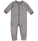 Living Crafts - Kids Baby Schlafanzug einteilig aus Bio-Baumwolle - grau-gest...