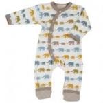 Organics for Kids - Strampler Elefant braun, kbA
