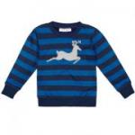 sense organics - Pullover Hirsch blau, kbA - Gr. 104
