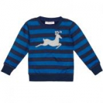 sense organics - Pullover Hirsch blau, kbA