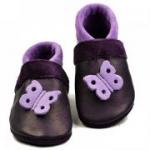 Pantolinos - Babyschuhe Schmetterling lila