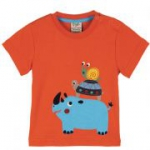 Frugi - Kleinkind T-Shirt Rhino, kbA - Gr. 80