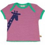 loud + proud - T-Shirt Giraffe fuchsia, kbA