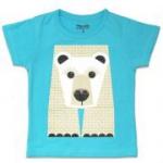 Coq en Pâte - T-Shirt Eisbär, beidseitiger Print, GOTS