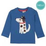 Frugi - Langarmshirt Hund blau, kbA