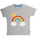 Frugi - T-Shirt Regenbogen grau, kbA