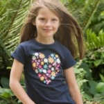 Frugi - T-Shirt Herz marine, kbA