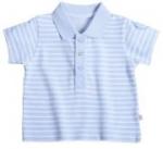 Liegelind - Ringel-Poloshirt hellblau-weiß, kbA