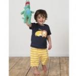 Frugi - Sommerschlafanzug Löwe, kbA
