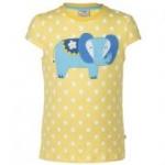Frugi - T-Shirt Elefant gelb, kbA
