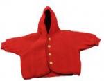 Engel Natur - Flauschige rote Baby-Jacke mit Kapuze, kbT