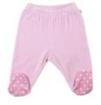 Frugi - weiche rosa Leggings mit Fuß, kbA