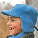 Pickapooh- Kinder-Mütze Carl aus Fleece blau, kbT - Gr. 48