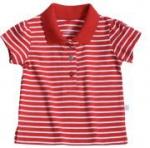 Liegelind - geringeltes Mädchen-Poloshirt rot, kbA