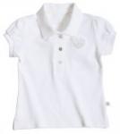 Liegelind - Mädchen-Poloshirt weiß, kbA