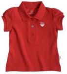 Liegelind - Mädchen-Poloshirt rot, kbA