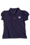 Liegelind - Mädchen-Poloshirt blau, kbA
