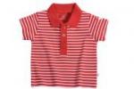 Liegelind - Ringel-Poloshirt rot-weiß, kbA