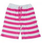 Frugi - rosa-hellblaue BABY-Shorts, kbA