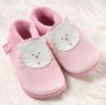 Pololo - Öko Lauflernschuhe Kitty rosa
