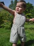 Organics for Kids - Latz-Shorts taupe, kbA - Gr. 2-3 Jahre