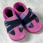 Pololo - Öko Babyschuhe Viva flieder-pink