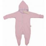 Organics for Kids - Strampler Newborn rosa-weiß mit Namen