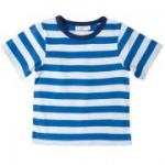 Cotton People Organic - T-Shirt blau-weiß, kbA