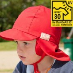 Pickapooh - Kindermütze Tom rot UV Schutz 80 , kbA