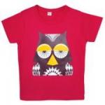 Coq en Pâte - T-Shirt Eule doppelseitiger Print, kbA