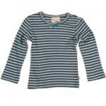 Frugi - Langarmshirt mit Schleife blau-weiß, kbA