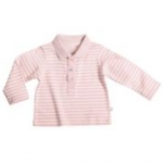 Liegelind - Langarm-Ringel-Poloshirt rosa, kbA