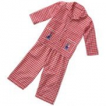 Piccalilly - Karo-Pyjama rot, kbA -2-3 Jahre