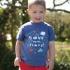 Frugi - T-Shirt Save my Planet blau, kbA