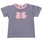 Cotton People Organic - T-Shirt Schmetterling grau, kbA