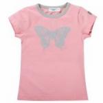 Cotton People Organic - T-Shirt Schmetterling rosa, kbA