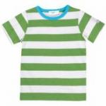 Cotton People Organic - T-Shirt grün-gestreift, kbA